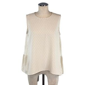 WHO WHAT WHERE Polka Dot Peplum Blouse #K01